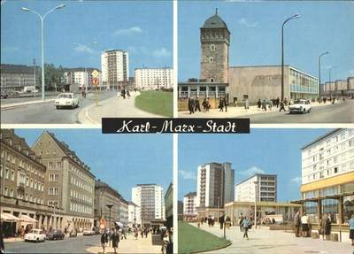 East German Passport from Karl-Marx Stadt