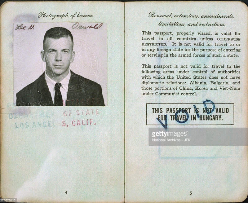 JFK Assassination and Lee Harveys Passport with East German stamp