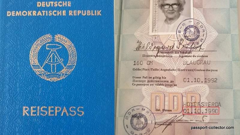 Last East German passport