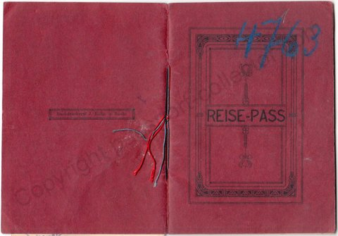 Rare Liechtenstein passport issued in 1915