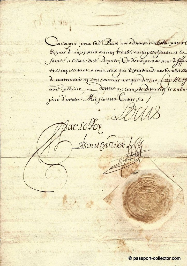 Louis XIII 1636 passport