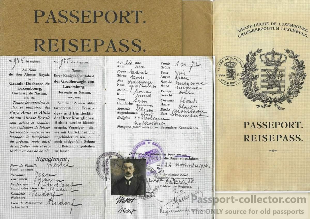 Beautiful Luxemburg passport