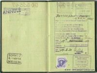 Luxembourg Passport 1950 - Allied Military Government