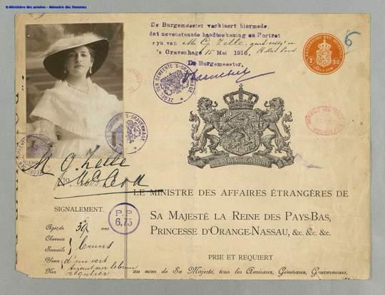 Mata Hari (Margaretha G. Zelle) Identity Papers