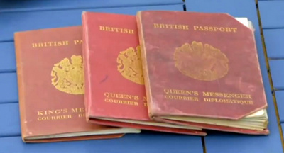 Six British King's & Queen's Messenger Passports (Video)