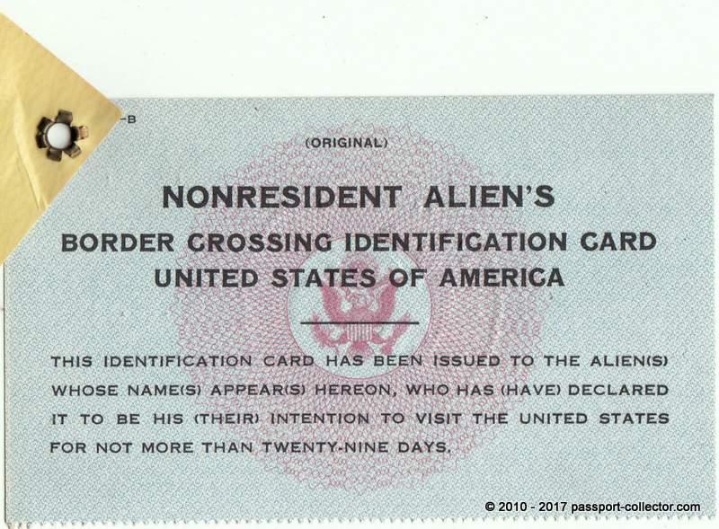 Nonresident Alien's Card