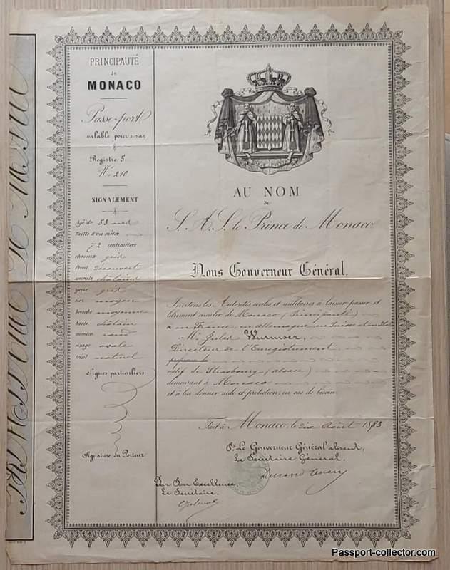 Principality Monaco Charles III Passport