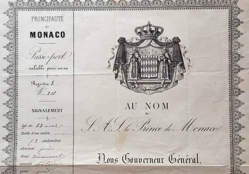 Principality of Monaco – Charles III Passport 1883
