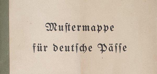 Sample folder German passports of the Third Reich