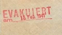 German Nazi Alien Passport With Stamp EVACUATED