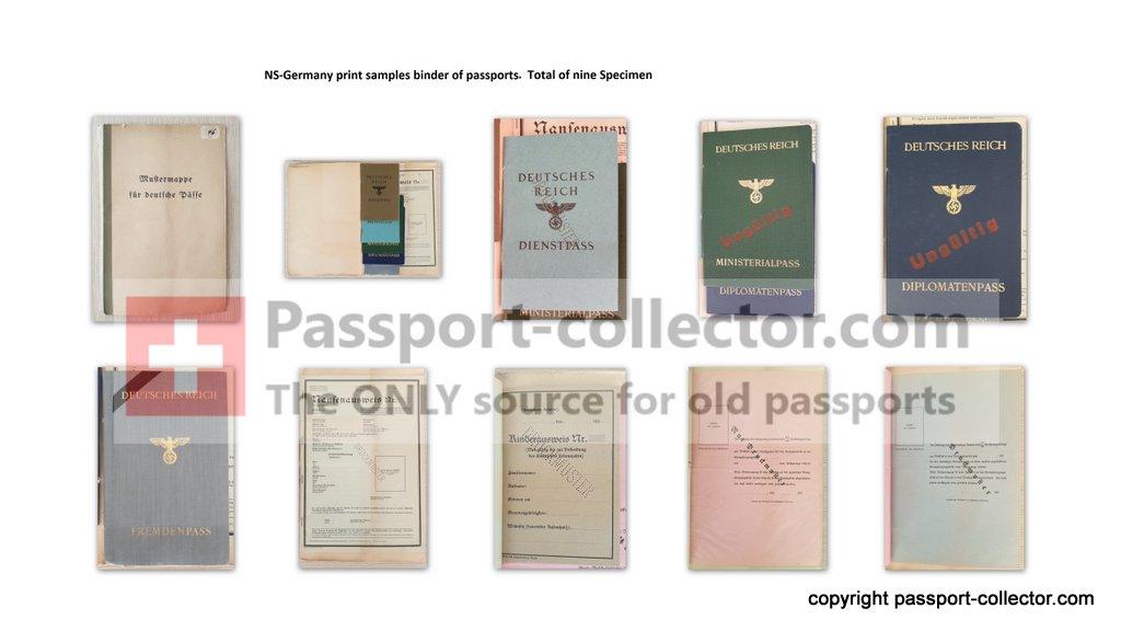 Sample folder German passports
