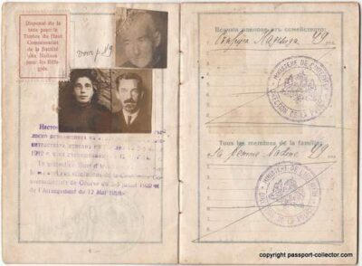 Bulgarian Nansen passport for multiple people