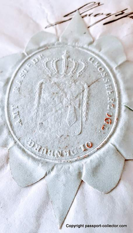 Grand Duchy Oldenburg Passport
