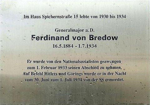 Ferdinand von Bredow plague