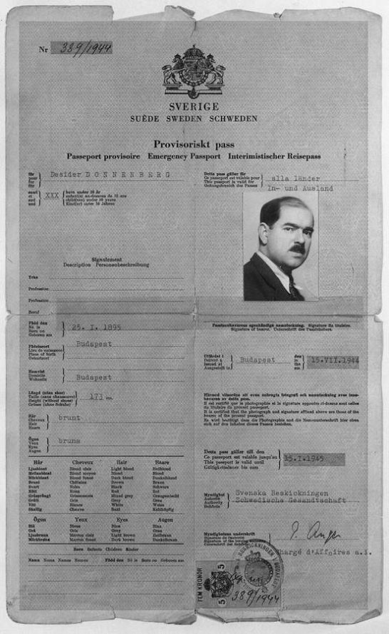 Swedish Diplomat Per Anger saved thousands of Jews in Budapest