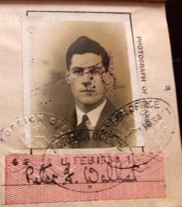 The British passport Of Peter Walker