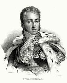 Large French Passport 1827 Prince Jules De Polignac