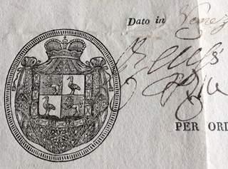 Prince Heinrich XV. Reuss zu Greiz  – Passport 1814