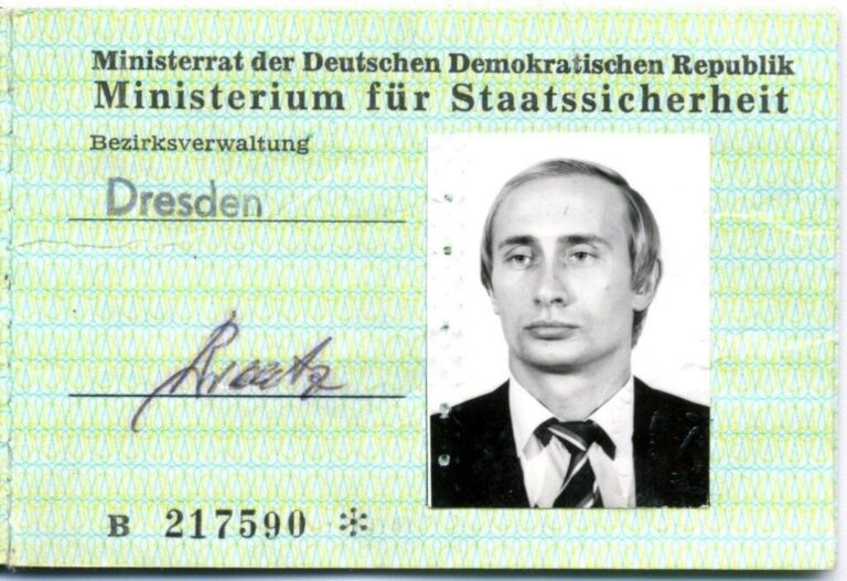 STASI ID of Putin found in East German archives