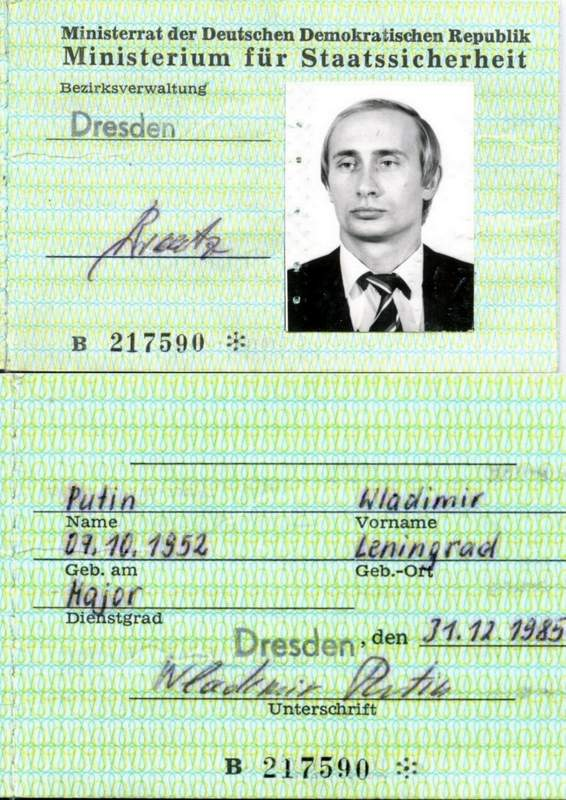 Stasi putin East German