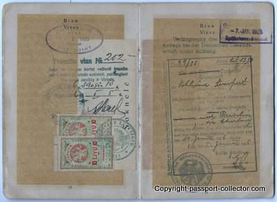 Rare Ukrainian Soviet Republic Passport 1925 for Brazil