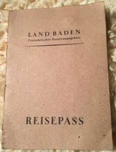 German Passport State Baden
