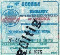 East German Passport 1975 • USA Visa & US Entry Stamp
