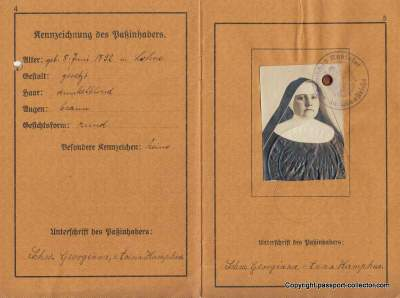 A German Nun on her way to Argentina in 1923