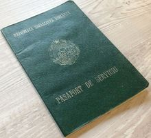 Romania's infamous dictator Ceausescu's eldest son passport