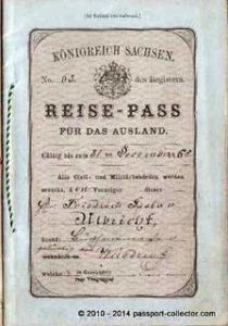 Kingdom Of Saxony, German Empire Unusual Passport Booklet