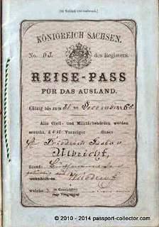 Kingdom Of Saxony, German Empire Unusual Passport Booklet