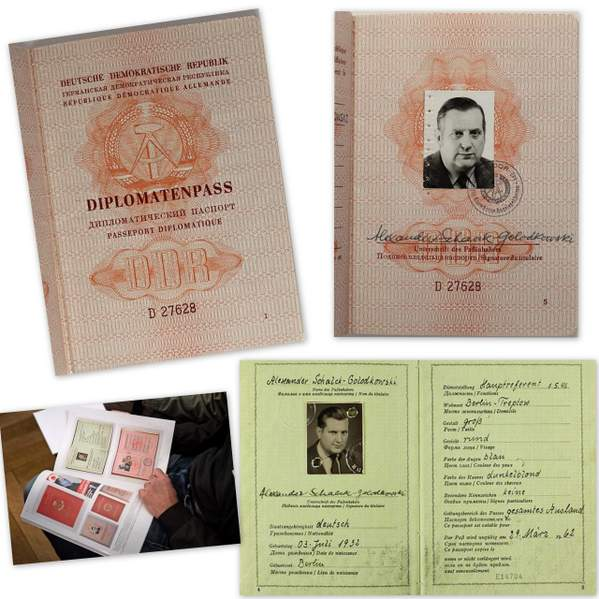 East German Diplomatic Passport Of Schalck-Golodkowski