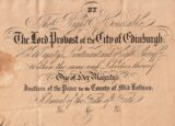 Passport, Scotland 1857 issued to Daniel Stevens to travel to Cuba