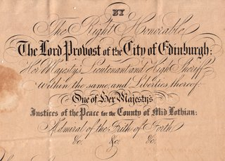 Scottish passport 1857 issued to Daniel Stevens to travel to Cuba
