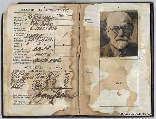 Sigmund Freud's BOGUS British Passport