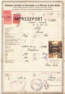 Upper Silesia Plebiscite Passport 1921 Issued In Rybnik