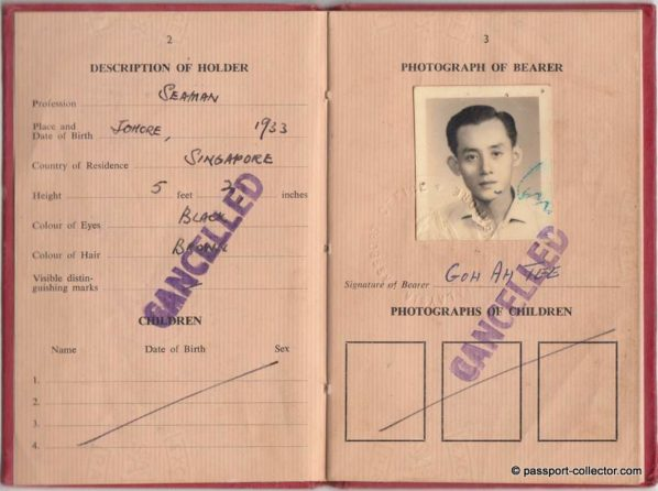 Republic of Singapore 1965 Provisional Passport