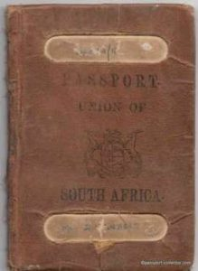 Union of South Africa Passport 1923 Well Traveled
