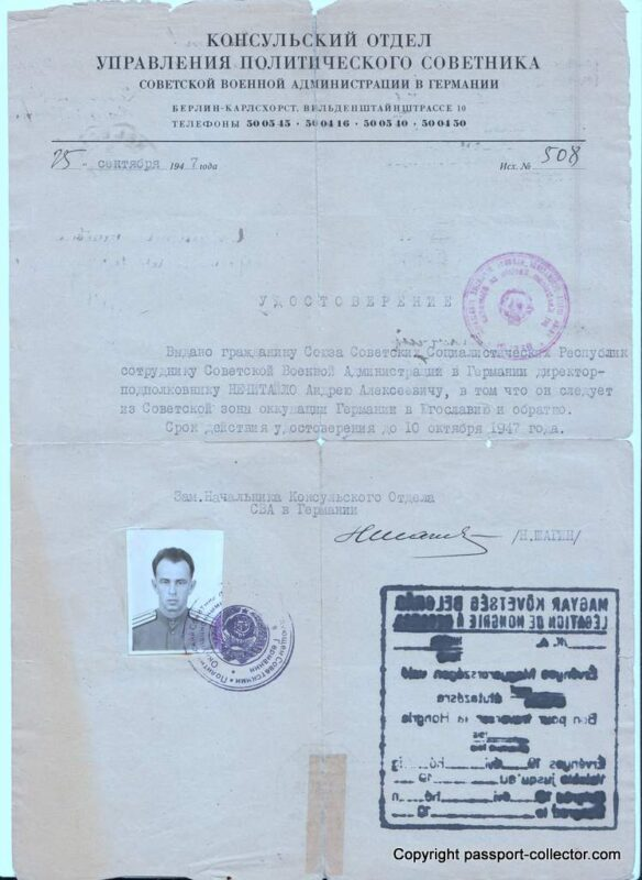 Document Soviet Occupation Germany