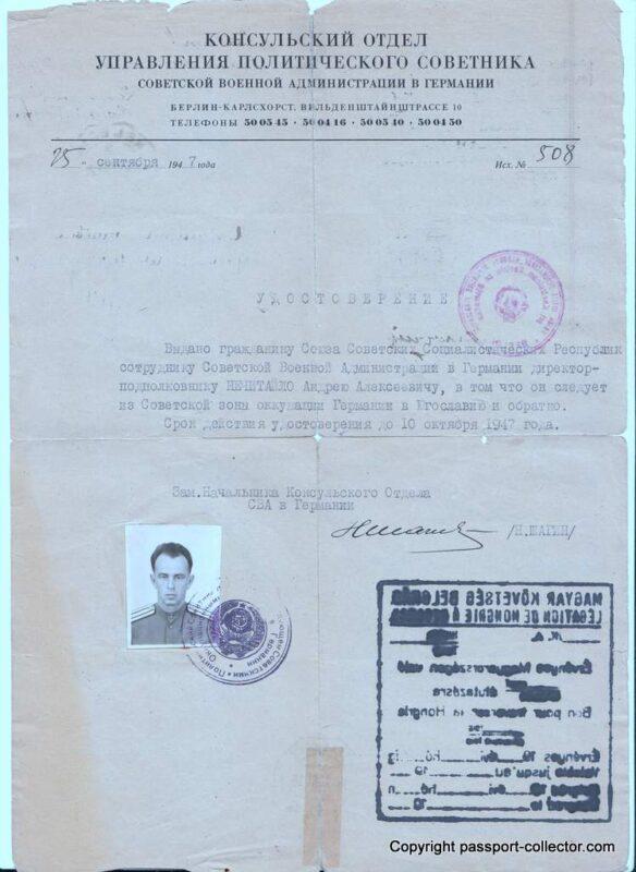 Document Soviet Occupation Germany