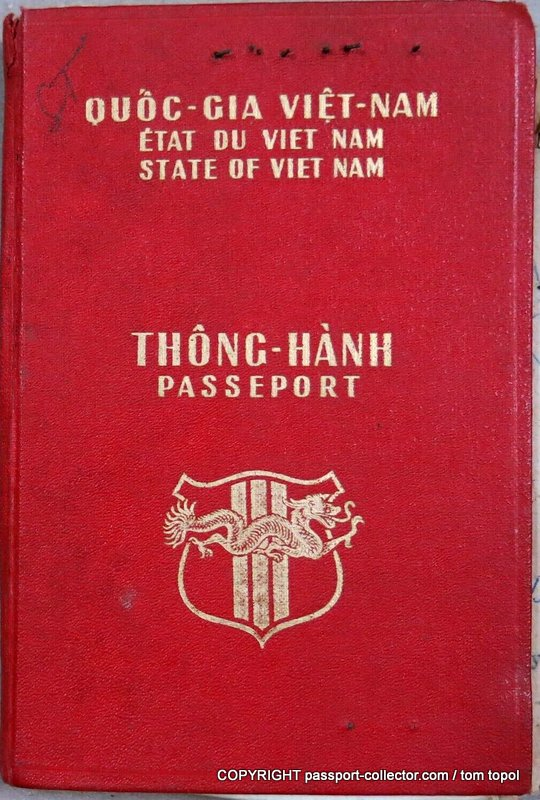 State of Vietnam - Passport 1957 (extremely rare)