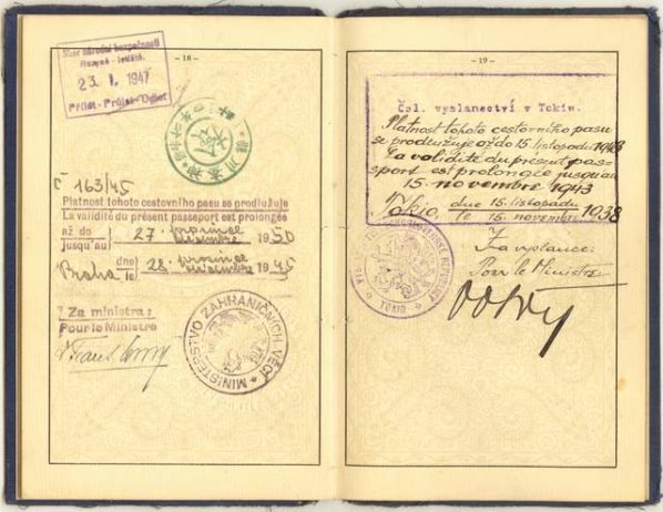 Czechoslovak diplomatic passport