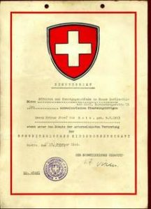 Swiss Protection Letter 1945 Issued At The Swiss Consulate, Berlin