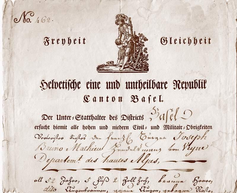 Switzerland 1798