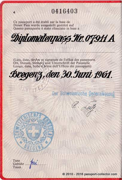 Passport of Magda Lutz the Wife of a Hero