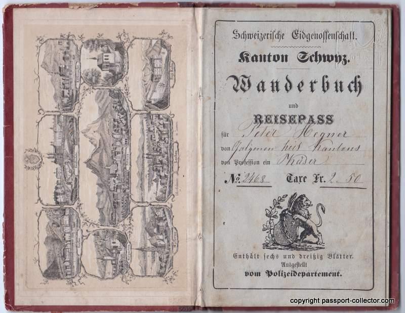 Swiss Journeyman book Schwyz