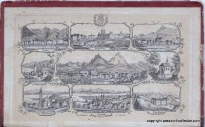 Swiss Journeyman book of Canton Schwyz 1874