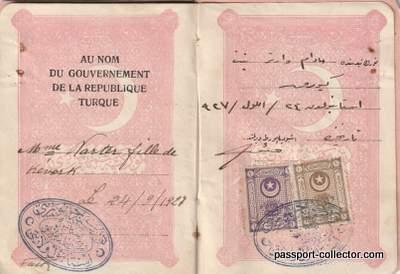 Rare Turkey Republic Passport 1927 Mustafa Atatürk