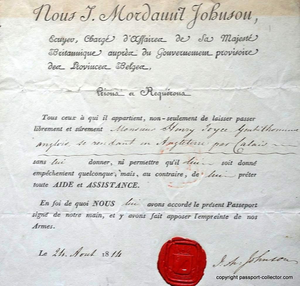 British passport Belgian government