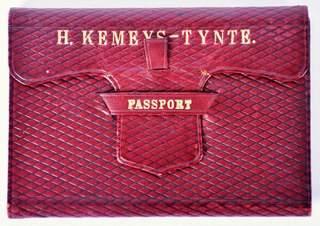 British Passport 1892 in leather wallet